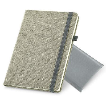 Caderno Capa Dura De Algodão Canvas