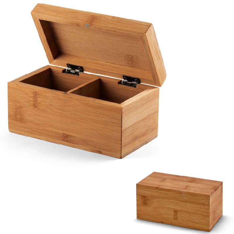 Caixa de Chá em Bambu Personalizado