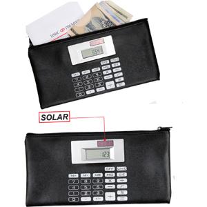 Carteira em Couro com Calculadora
