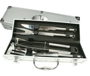 kit churrasco 4 peças com maleta